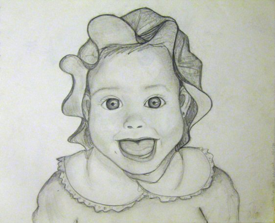 Baby Ale (pencil drawing) - September, 2000